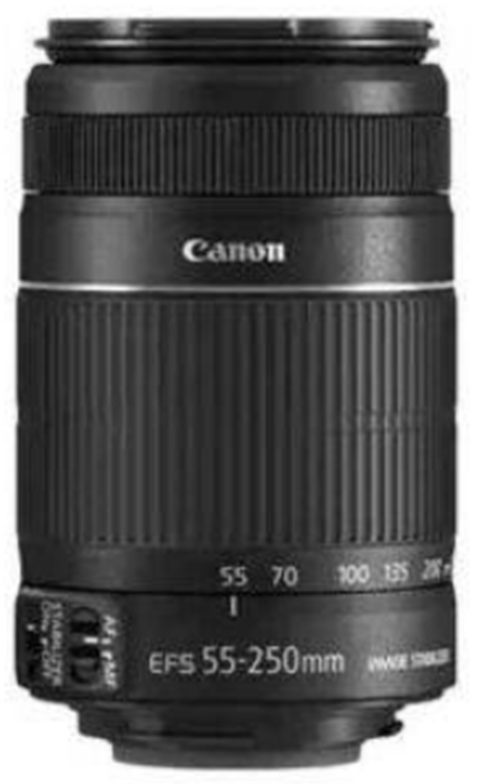 Canon Lensa EF-S 55-250mm f/4-5.6 IS II White Box - Hitam