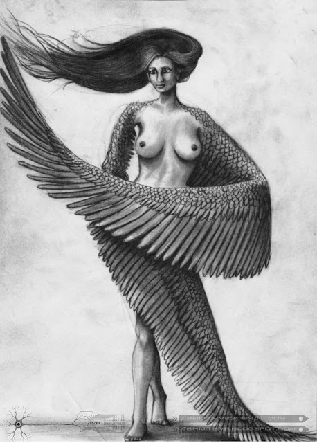 nude brest naked wings feathers art artist pencil drawing draw paper traditional surreal woman lady girl nude naked love  concept abhijithvb abhijith vb avb india kerala