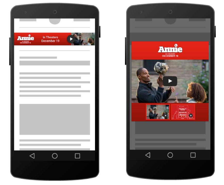 Lightbox Ads auf Smartphone