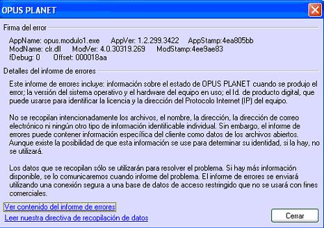Opus Planet 004 Firma de error opus planet windows XP