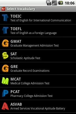 Test Your English Vocabulary - Aplikasi Android Belajar Bahasa Inggris