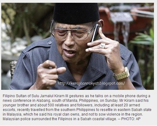 Philippine sultan says followers will not leave Sabah