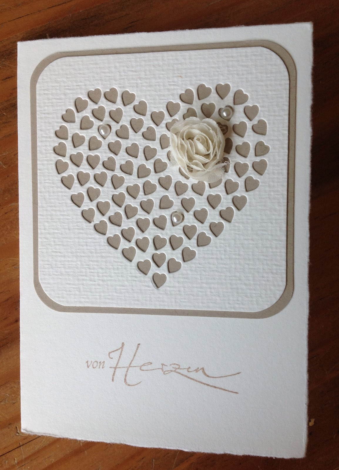 Memory Box Stanzform Herz aus Herzen, Schriftstempel Alexandra Renke