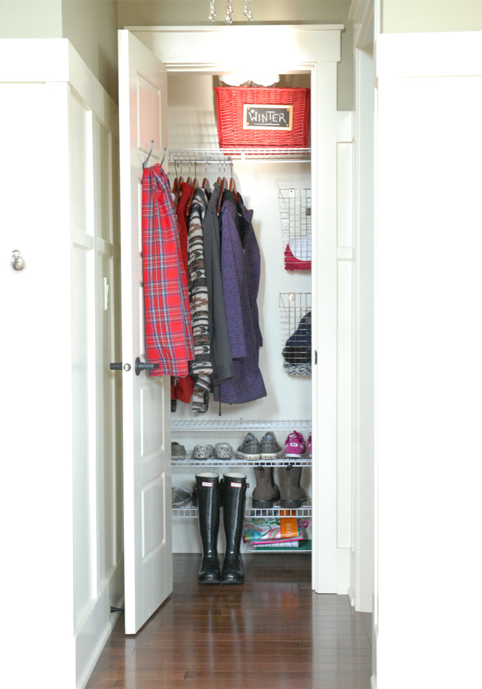 4 Steps to an Organized Coat Closet