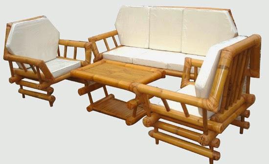 Kursi Teras dari Bambu Cantik Rumah Minimalis