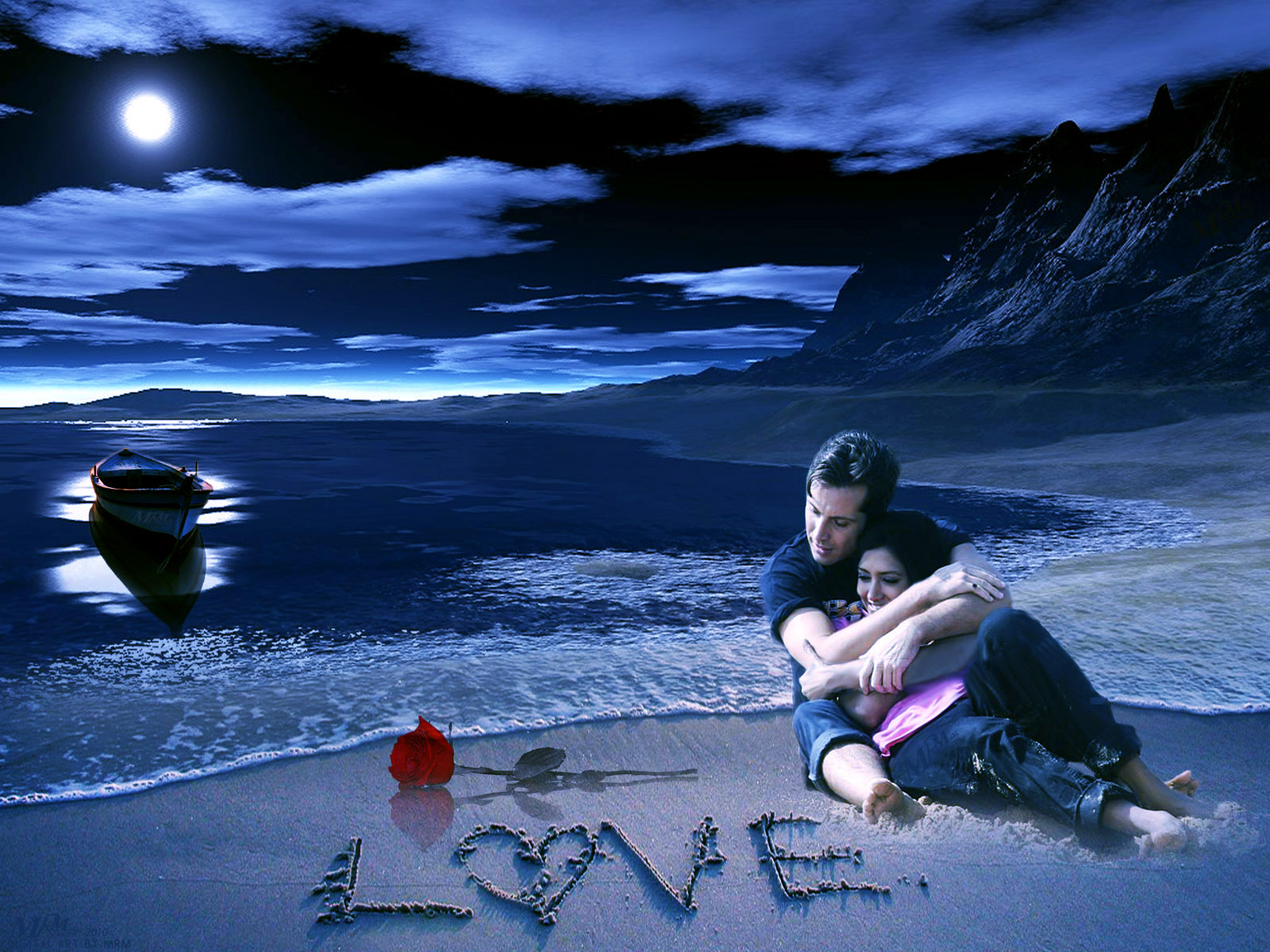Animation Free Hd Wallpaper Love Animated