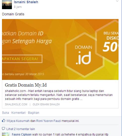 Info Domain gratis dari ID Web Host