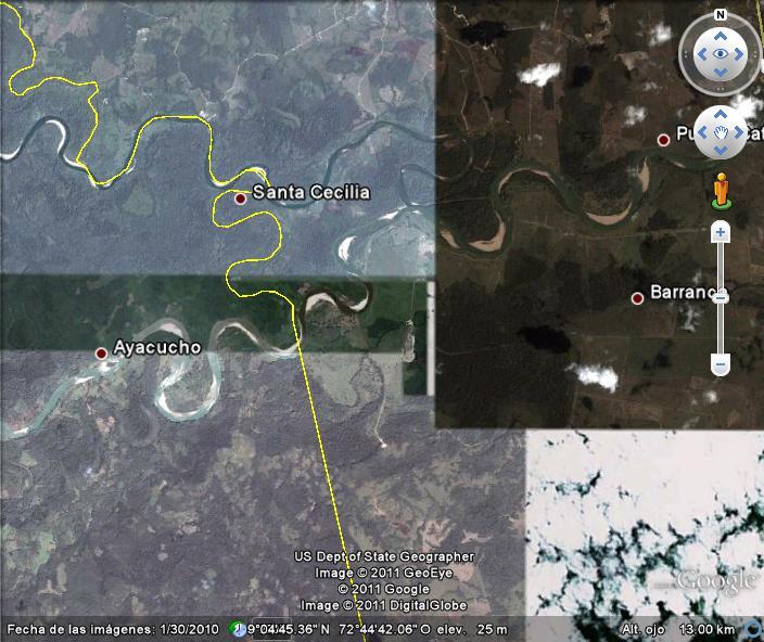 El Río de Oro y el Río Catatumbo....