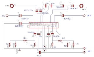 La4508 Bridge Amplifier Circuit Diagram - Skematic Power Amplifier Ic La 4508 Ini Saya Gambar Sendiri Dengan Software...