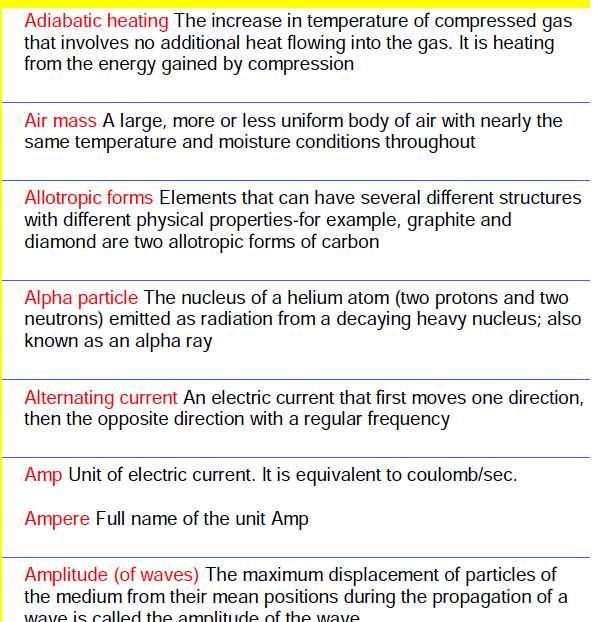 Physics term