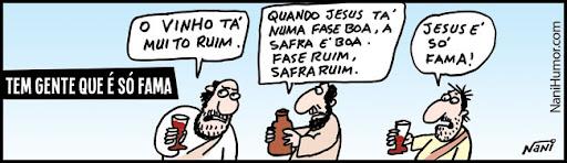 Tirinhas: Tem gente que é só fama... jesus
