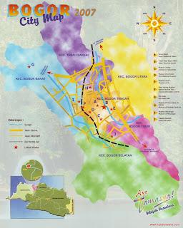 Peta Wisata Kota Bogor