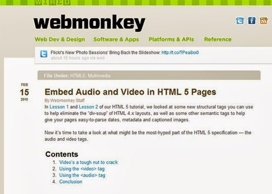 Embed Audio and Video in HTML 5 Pages