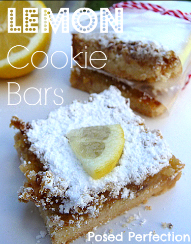 Luscious Lemon Cookie Bars...the perfect blend of sweet and tart!