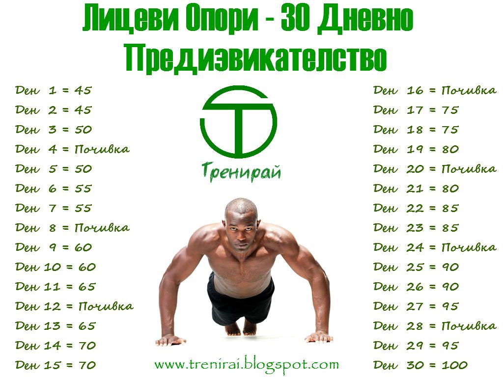 Лицеви Опори - 30 Дневно Предизвикателство