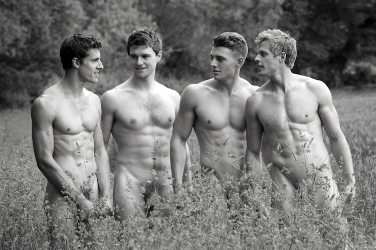 Charity calendar naked sportsmen in England