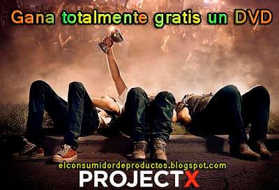 sorteo gana un DVD gratis de la pelicula Project X