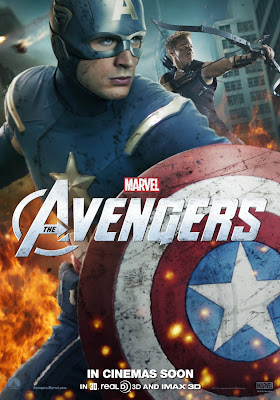The Avengers International Character Movie Posters - Chris Evans as Captain America & Jeremy Renner as Hawkeye