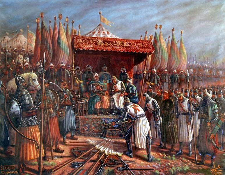 """Prima giornata del Decameron. Terzo racconto: """"La novella di Melchisedech giudeo"""" 773px-Saladin_and_Guy"""