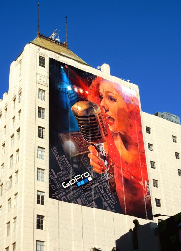 Giant GoPro singer billboard 2015