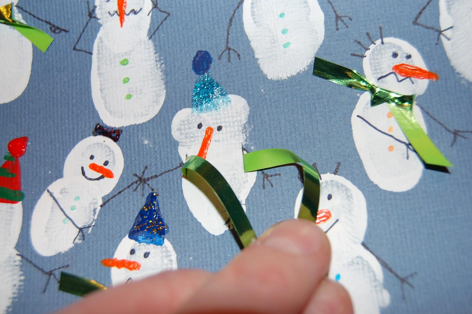 Fingerprint Snowmen I Heart Crafty Things