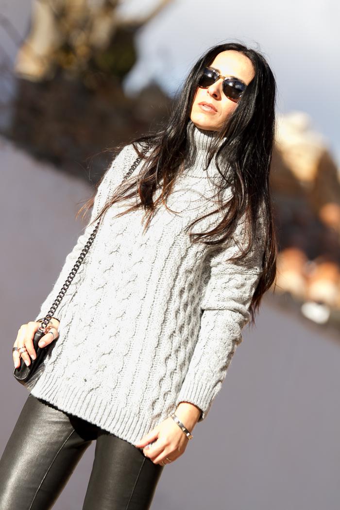 Look estilo rockero blogger de moda española withorwithoutshoes