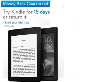 Amazon Kindle Free trial for 15 days with 100% money back