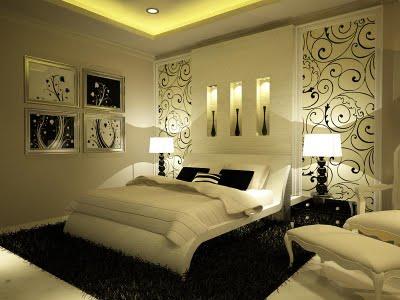 Decorando tu dormitorio en blanco y negro decoraci n de - Decoracion de dormitorios en blanco ...