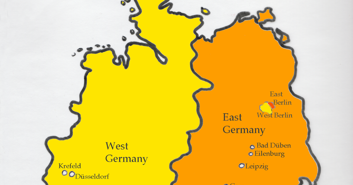how to say east in german