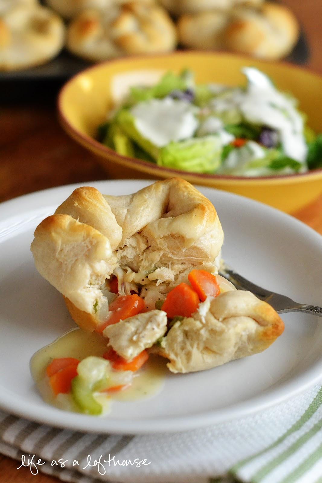 Chicken Pot Pie Biscuits