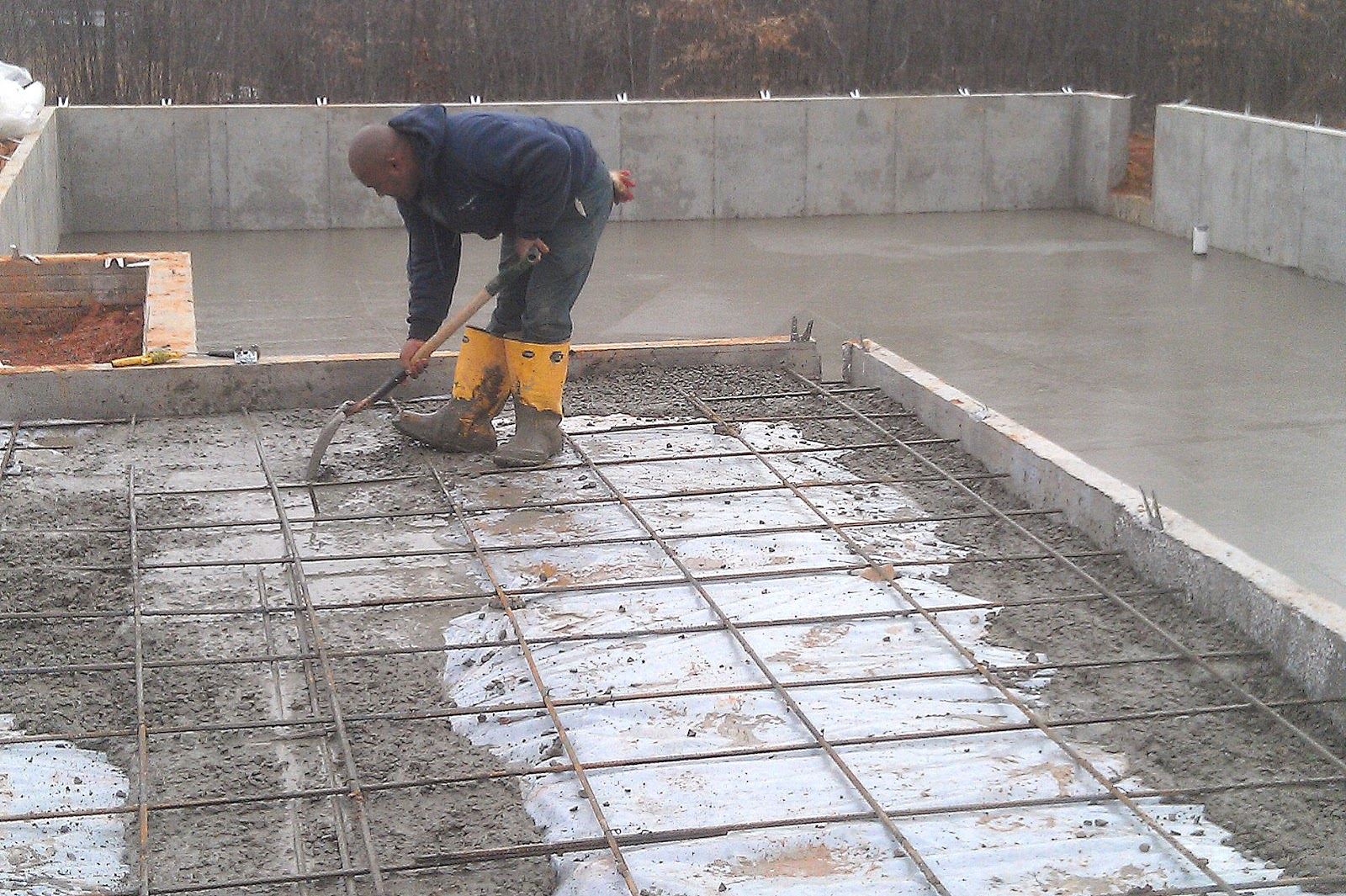 March 11 foundation pouring complete our new home at for Pour a floor