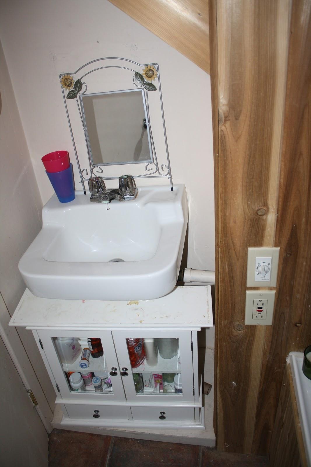 Great Basement Bathroom Progress The Sink Nook