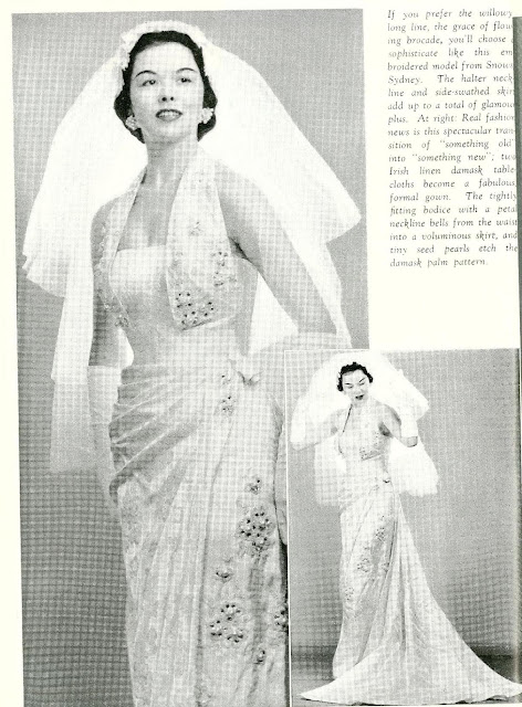 1950s summer bride magazine wedding dress Alfred Shaheen