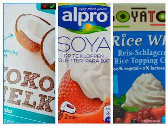 zuivelvrije en lactose vrije slagroom