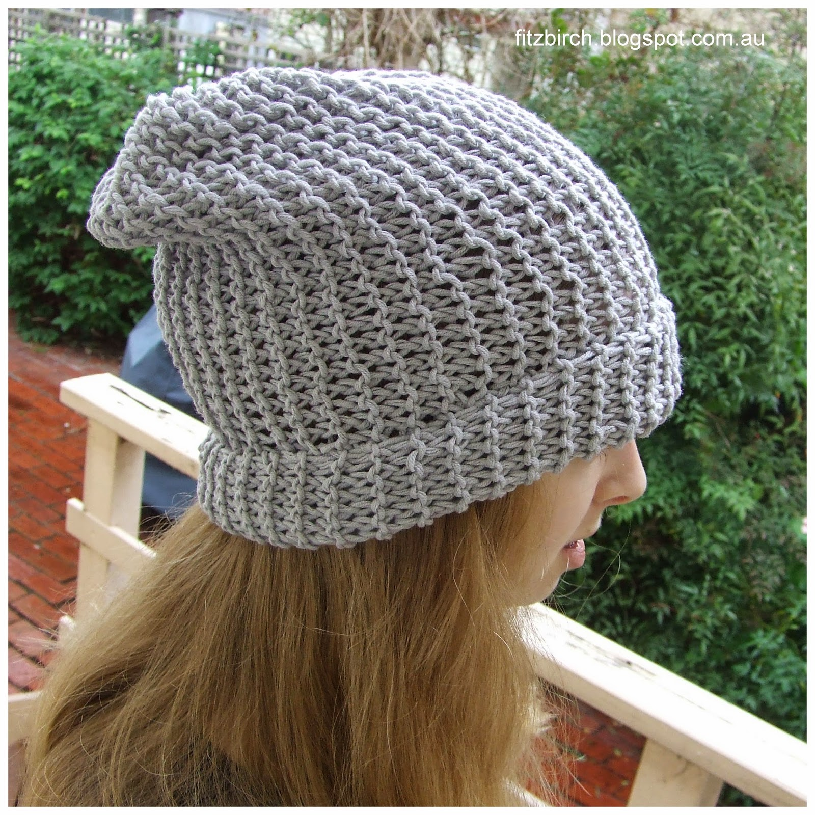 Knit Pattern Beanie Easy : FitzBirch Crafts: 50 Shades of Grey* Beanie