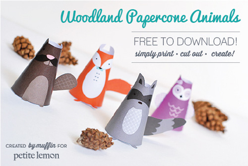 My Owl Barn: Printable Woodland Papercone Animals