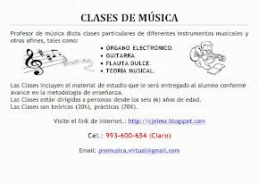 CLASES PARTICULARES DE MÚSICA ..... ( Hacer clic en la imagen)