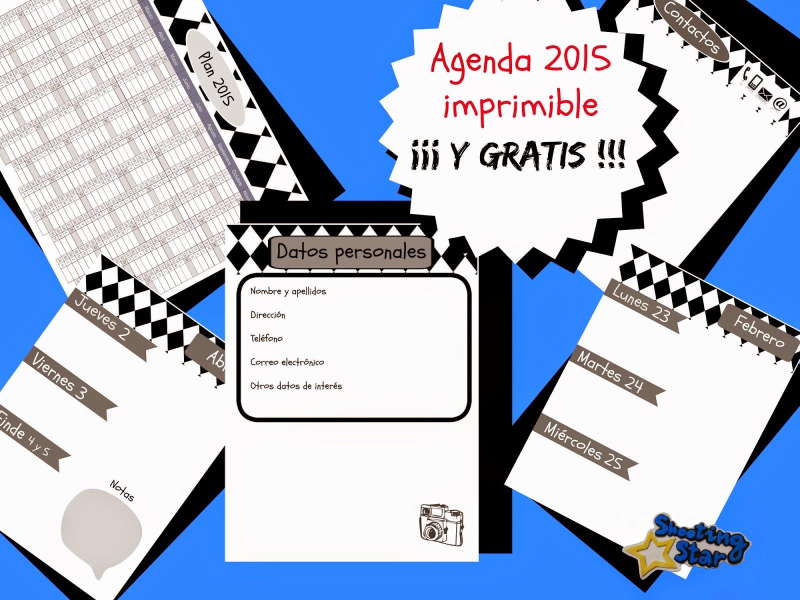 imprimible gratis agenda 2015