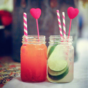 Mason Jar Wedding Cocktails via Green Wedding Shoes