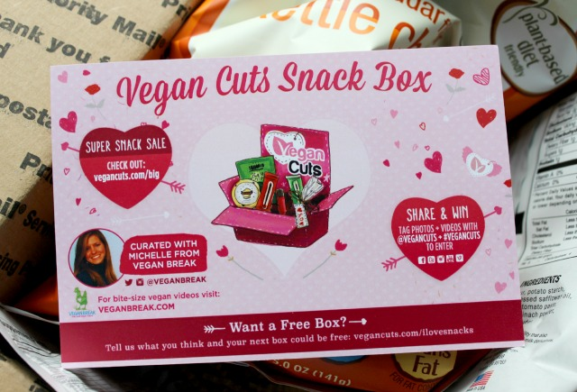 Vegan Cuts Snack Box February 2014 Review unboxing