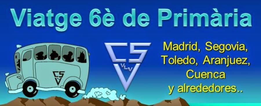 Viatje 6è de Primària 2012 - 2013