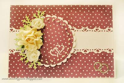 kartka sztalugowa, kartki okolicznościowe, kartka na wesele