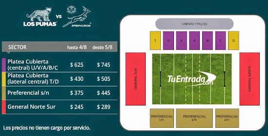 Venta de entradas para Los Pumas vs. Sudáfrica en Salta