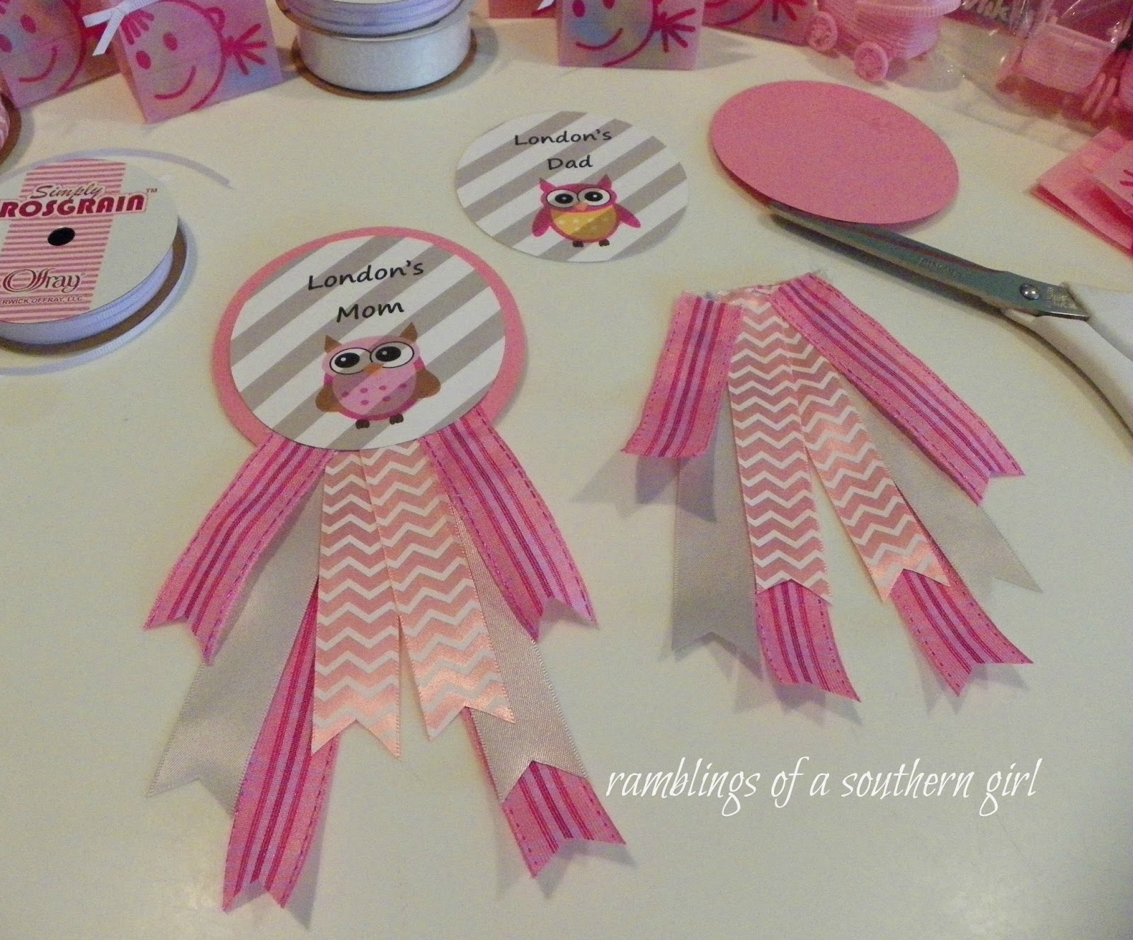 Ramblings of a Southern Girl A Sweet & Simple Baby Shower for Lil