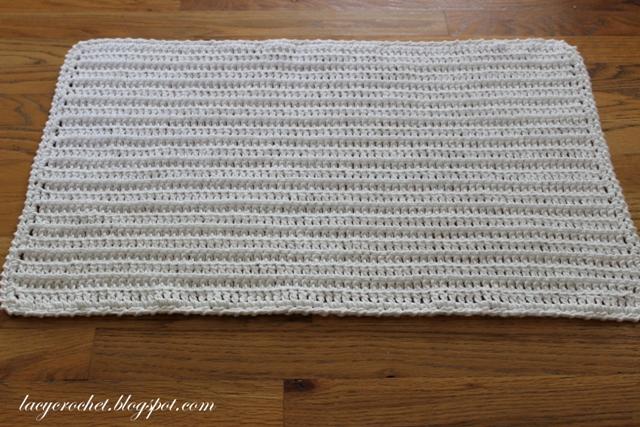 Lacy Crochet Crochet Bath Mat Very Simple Pattern