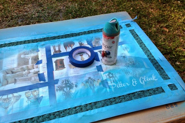 Stencil an IKEA rug to create a PB Inspired Doormat! #ikeahack pitterandglink.com