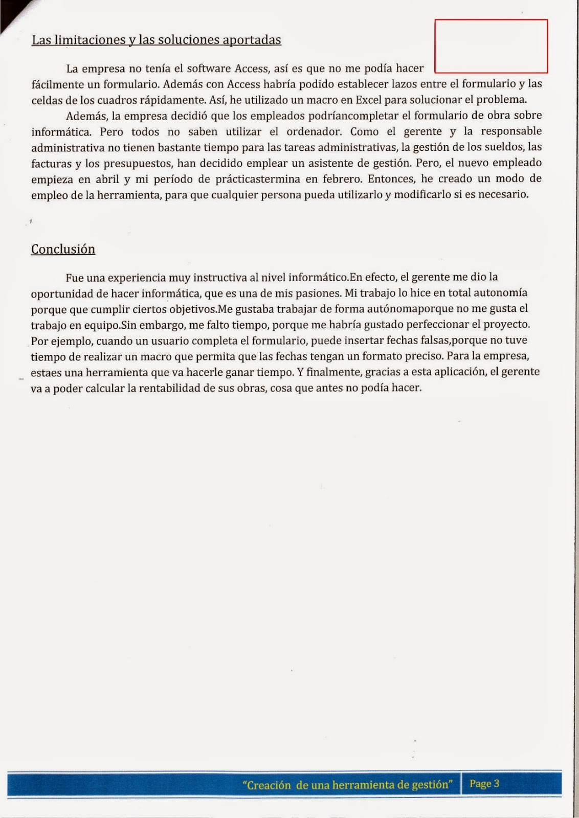 presentation en espagnol exemple