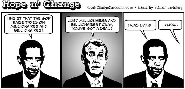 obama, obama jokes, boehner, millionaires and billionaires, taxes, fiscal cliff, hope and change, stilton jarlsberg