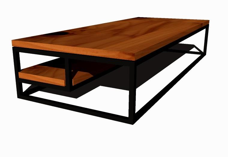 Fukusu Coffee Table With Steel Frame Minimalism