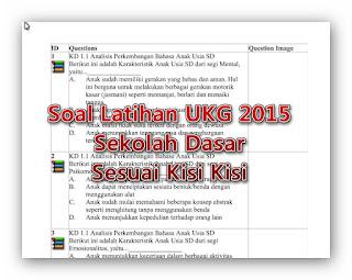 Soal UKG 2015 Sekolah Dasar sesuai Kisi Kisi